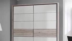 Schwebetürenschrank Hochglanz Weiß : schwebet renschrank rondino in sandeiche wei hochglanz 170 cm ~ Lateststills.com Haus und Dekorationen