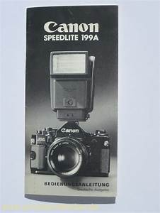 User Manual Canon Speedlite 199a German