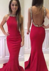 backless bridesmaid dresses backless mermaid evening dress with rhinestones on luulla evening prom dresses