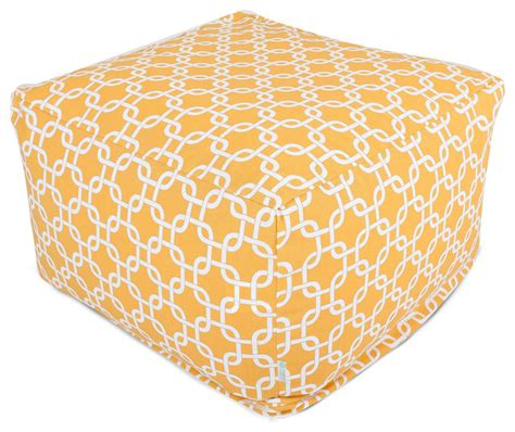Large Yellow Ottoman - outdoor yellow links large ottoman modern ottomans and