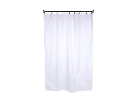 interdesign waterproof fabric stall shower curtain liner