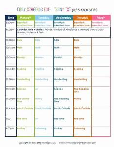 kindergarten daily schedule confessions of a homeschooler With kindergarten timetable template