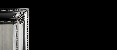 cornici argento bambini collezione cornice rettangolare c quattro blasoni nei lati