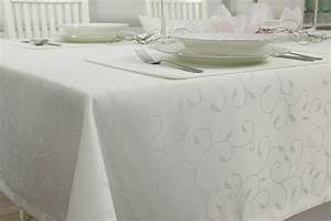 Damast Tischdecke Weiß : damast tischdecke fleckschutz wei muster breite 110 cm ~ Watch28wear.com Haus und Dekorationen