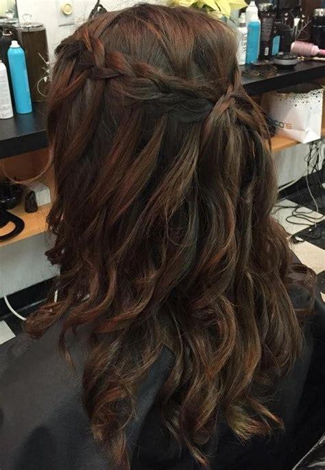 Half Braided Half Curly Hairstyles by 20 Flowing Waterfall Braid Styles