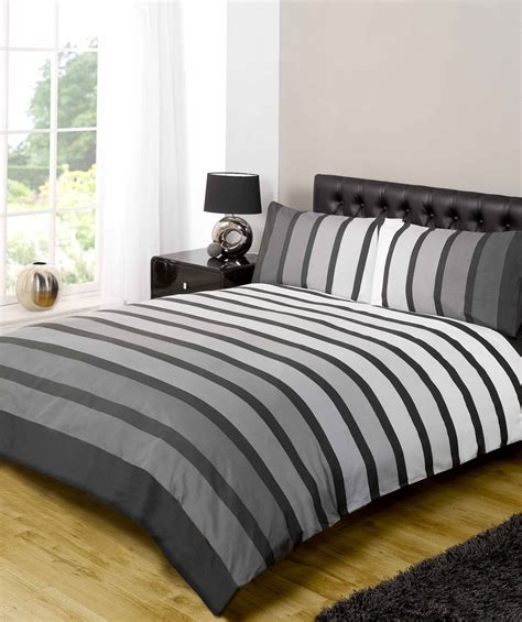Black Duvet Cover by Soho Modern Striped Duvet Cover Quilt Set Blue Black Ebay