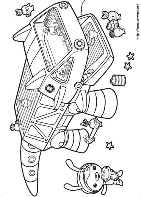 dibujos  colorear de octonautas