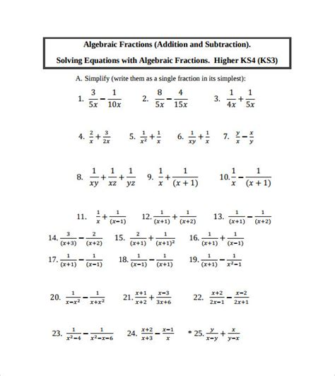 all worksheets 187 simplifying algebraic expressions