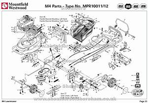 Mpr10011 Mpr10012 Mountfield M4 Pre 2002 Machine Diagram