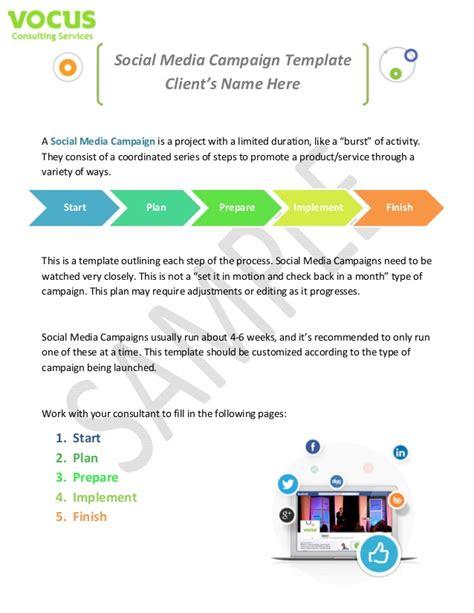 social media caign template sle social media caign templates