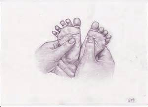 Drawings of Babies Hands and Feet