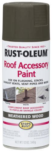 rust oleum stops rust roof accessory paint weathered