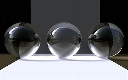 Abstract Objects 3d Wallpoper Crystal Ball Balls