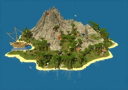 Island Map Volcanic Pvp Minecraft Bts Namjoon