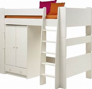 Steens For Kids High Sleeper And Low Wardrobe In Solid