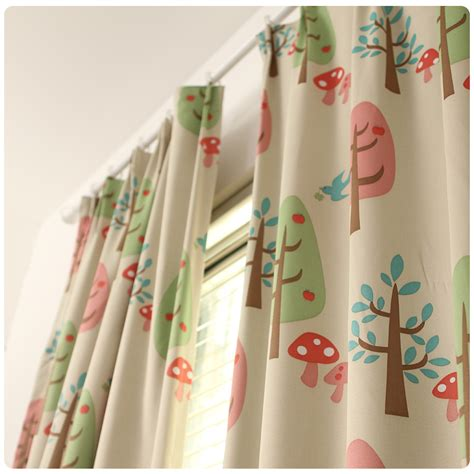 blackout trees curtain for children living room