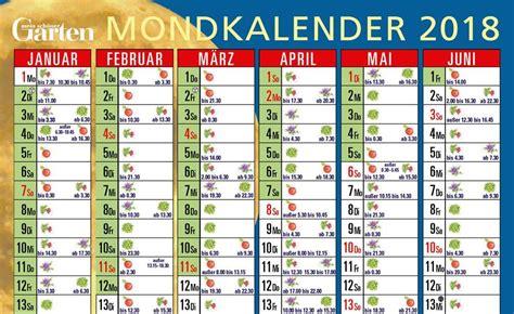 Mondkalender Für Den Garten Zum Herunterladen Сад