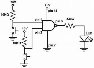 Circuit Diagram Gates : how to build a nand gate logic circuit using a 4011 chip ~ A.2002-acura-tl-radio.info Haus und Dekorationen