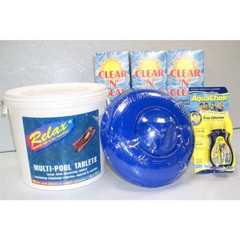 Relax Swimming Pool Chemical Kit E For 32ft Pools Relax