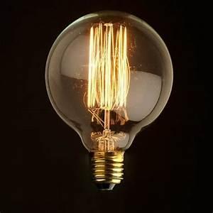 Ampoule Vintage Led : ampoule ronde e27 filament incandescente 40w achat ~ Edinachiropracticcenter.com Idées de Décoration