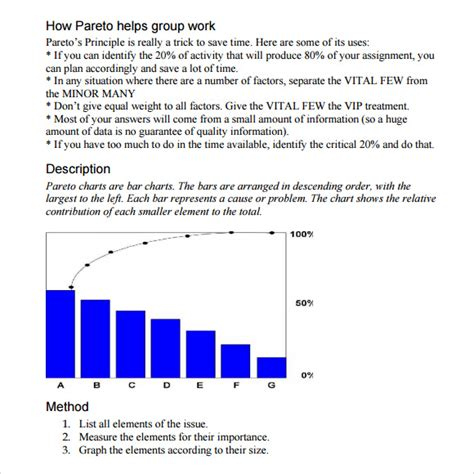 sample pareto chart  documents   word excel