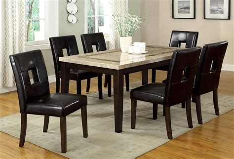 lisbon contemporary walnut casual dining set with