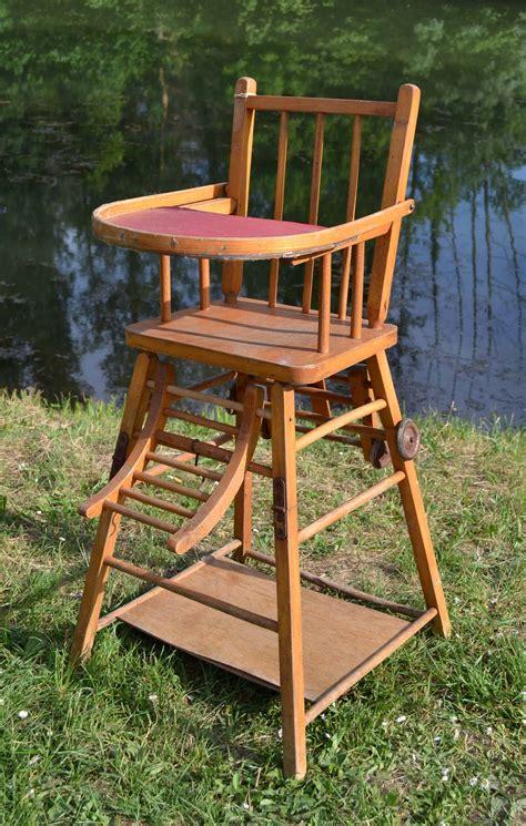 chaise haute bébé bois chaise en bois ancienne mzaol com