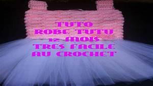 tuto robe tutu 12 mois tres facile au crochet youtube With robe au crochet facile