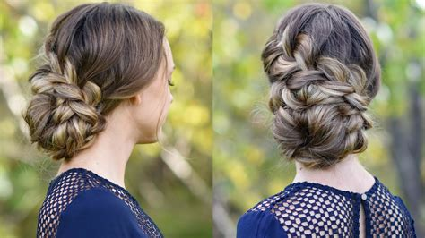 french braid updo homecoming hairstyle cute girls