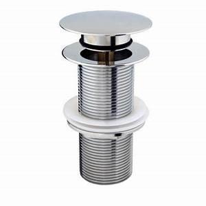 Bonde Lavabo Sans Trop Plein : bonde quick clac 100 mm pour vasque sans trop plein ~ Dailycaller-alerts.com Idées de Décoration