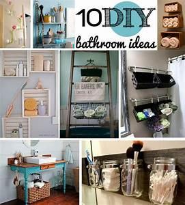 10 DIY bathroom decor ideas- so much fun! Bathroom