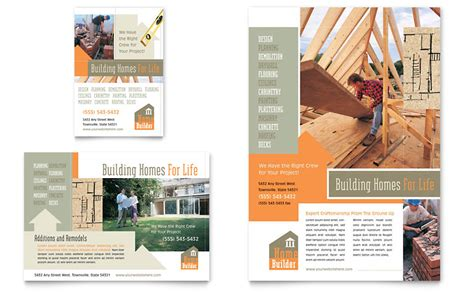 home building carpentry flyer ad template word publisher