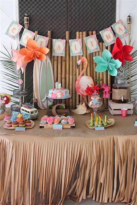 hawaiian party decorations ideas  pinterest