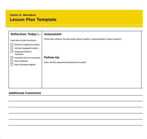 sample printable lesson plan template   documents