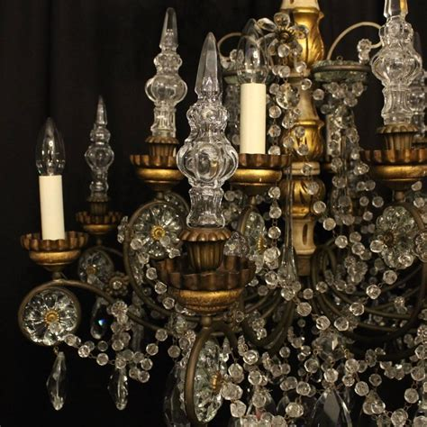 the italian chandelier italian giltwood and eight light antique