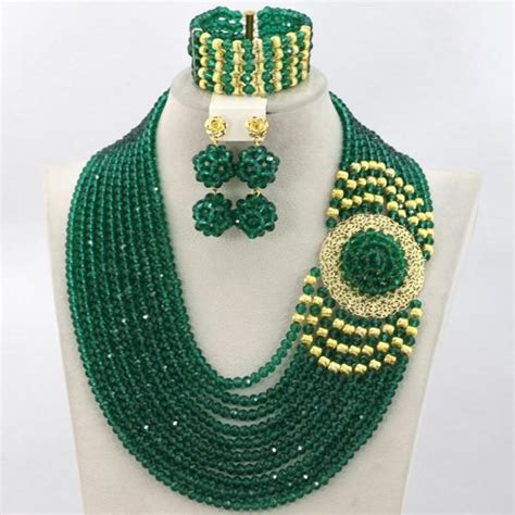 latest fashion crystal beads jewelry set african