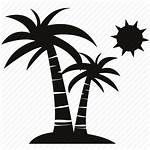 Beach Icon Sun Travel Coconut Sea Moon