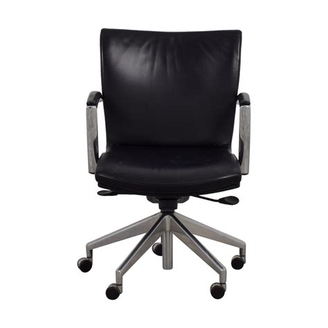 black desk chair 61 black leather desk chair chairs