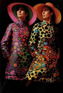 1960's fashion vintage fashion style color photo print ad ...