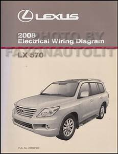 2008 Lexus Lx 570 Repair Shop Manual 5 Volume Set Original