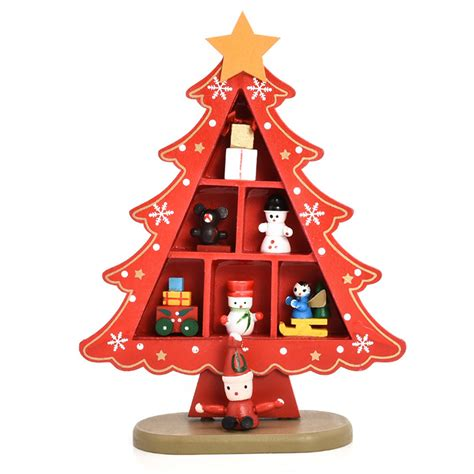 desk table top mini wooden christmas tree decorations xmas