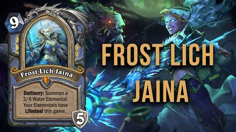 Mage Deck Hearthstone Lich King by Hearthstone Lich Jaina Elemental Deck Experiment