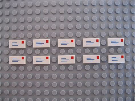 Ten Lego Letter Mail Tiles Brand New  Ebay