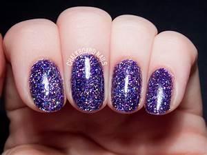 How To Party Like a Rockstar (In Purple Glitter Gels) | Chalkboard Nails | Nail Art Blog