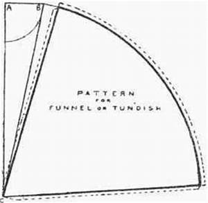 truncated cone template - articles formed from cone frustums