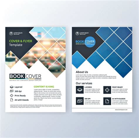 brochure design examples  vector eps