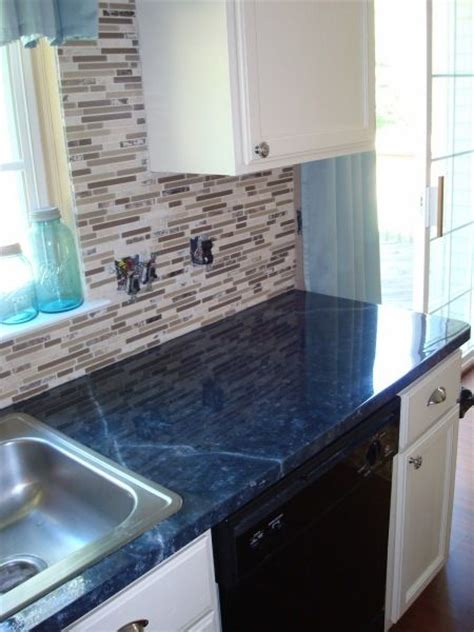 blue formica kitchen painting a laminate counter top countertops faux
