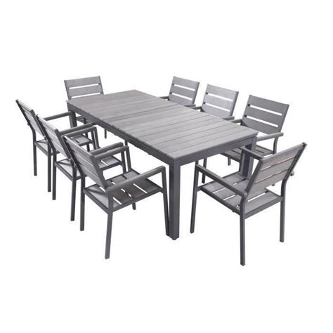 table et chaise de salon ensemble table extensible de jardin 200 250 300 cm 8