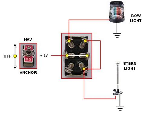 bow  stern light wiring    hull truth