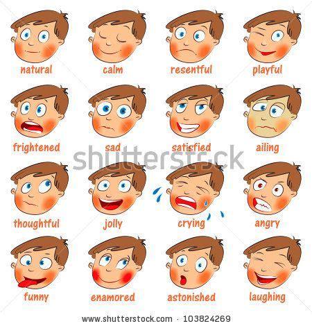 kids emotion faces emotions cartoon facial expressions
